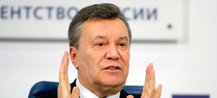 Ο πρώην πρόεδρος της Ουκρανίας, Βίκτορ Γιανουκόβιτς -Φωτογραφία αρχείου: AP