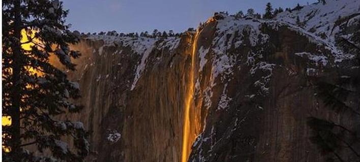 Το φαινόμενο Firewall στο Εθνικό Πάρκο Γιοσέμιτι της Καλιφόρνιας. Φωτογραφία: Instagram
