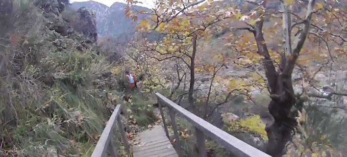 Το μονοπάτι του Ροδοκάλου στο βουνό της Οίτης πάνω από την Υπάτη