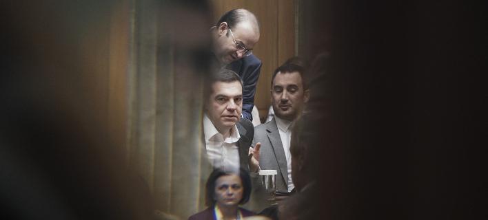 Ο Αλέξης Τσίπρας στο τελευταίο υπουργικό συμβούλιο/Φωτογραφία: Eurokinissi