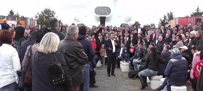 O πρωθυπουργός της ΠΓΔΜ, Ζόραν Ζάεφ σε ομιλία του στο Κρούσεβο (Φωτογραφία: YouTube)