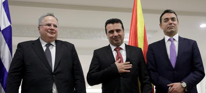 Ν. Κοτζιάς (αριστερά) Ζ. Ζάεφ (μέση) Ν. Ντιμιτρόφ (δεξιά) -Φωτογραφία: Intimenews/ΤΟΣΙΔΗΣ ΔΗΜΗΤΡΗΣ