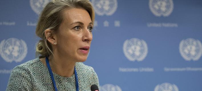 Η εκπρόσωπος του ρωσικού ΥΠΕΞ (Φωτογραφία: AP/ Mary Altaffer)