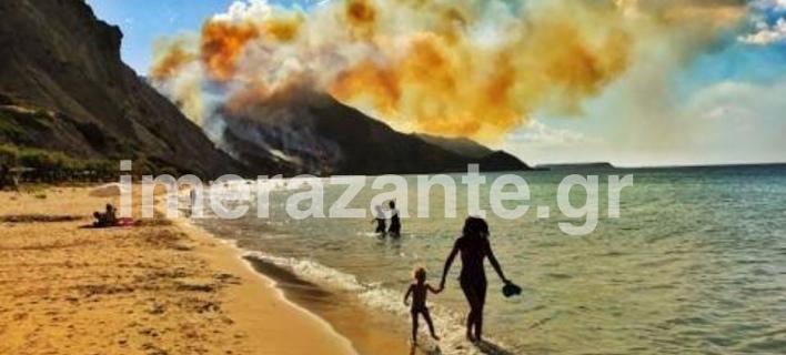 Διαδοχικές πυρκαγιές εκδηλώνονται στη Ζάκυνθο (Φωτογραφία: imerazante)