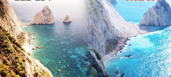 Η παραλία «πριν» και «μετά» / Φωτογραφία: ermisnews.gr