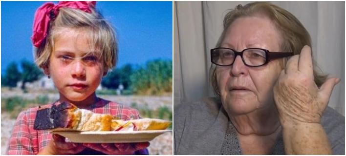 Γιοβάνα Ξιφίτα-Βυθούλκα: Το «zante girl» όταν το φωτογράφισε ο πρώην ΥΠΕΞ των ΗΠΑ το 1953 (αριστερά) και όπως είναι σήμερα σε ηλικία 71 ετών