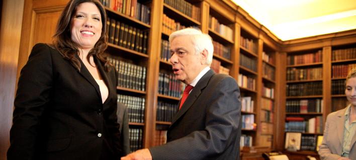 «Πόλεμος» Ζωής εναντίον Τσίπρα και Παυλόπουλου για τις πρόωρες εκλογές