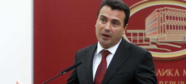 Ο πρωθυπουργός της ΠΓΔΜ, Ζόραν Ζάεφ εντείνει την καμπάνια ενόψει του δημοψηφίσματος της Κυριακής (Φωτογραφία: AP/Boris Grdanoski)