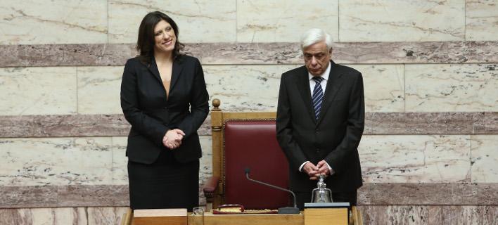 Οταν η κυρία Κωνσταντοπούλου ήταν Πρόεδρος της Βουλής και τα είχε καλά με τον ΠτΔ / Φωτογραφία: Eurokinissi-ΜΠΑΛΤΑΣ ΚΩΣΤΑΣ