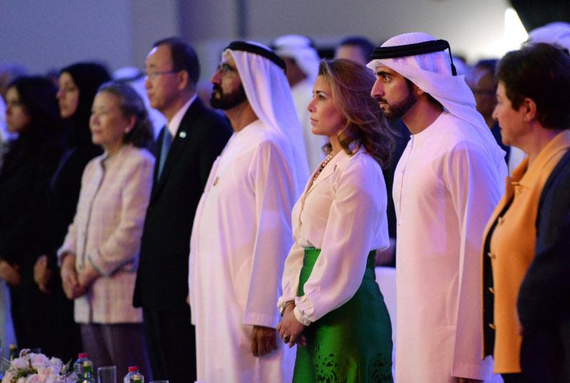 H πριγκίπισσα Χάγια της Ιορδανίας και ο σεϊχης του Ντουμπάι σε μια φωτογραφία του 2016, τη χρονιά που φέρεται να ξεκίνησε τον δεσμό της με τον Βρετανό σωματοφύλακά της