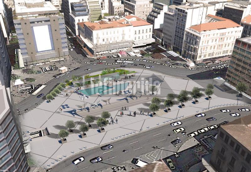 Η πλήρως ανακατασκευασμένη πλατεία Ομονοίας από ψηλά
