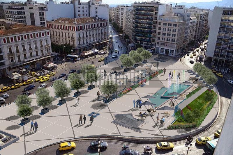 Η πλατεία Ομονοίας θα έχει πράσινο, όπου τεχνικά μπορεί να υποστηριχτεί.