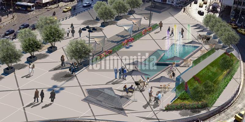 Συντριβάνι, πράσινο και νέα φωτιστικά στην πλήρως ανακατασκευασμένη πλατεία Ομονοίας