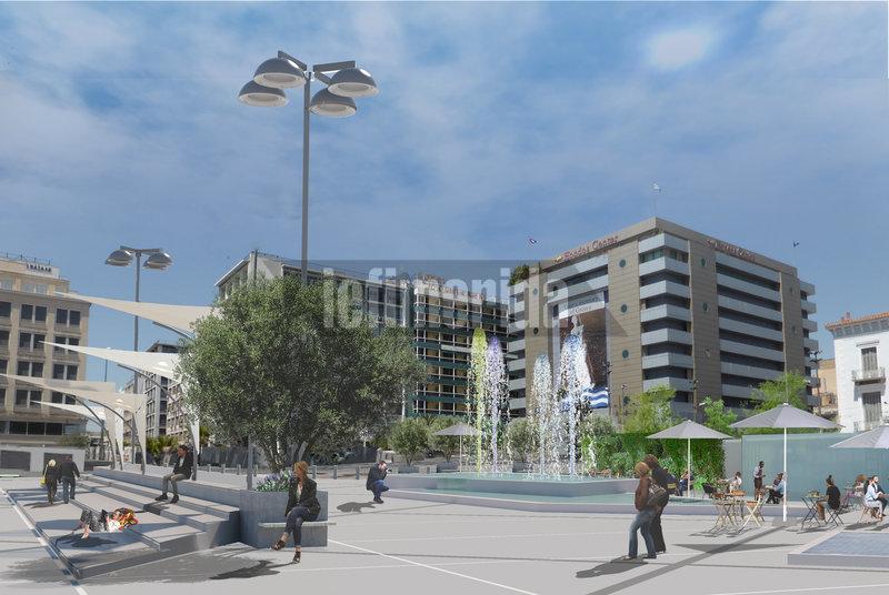 Η νέα πλατεία Ομονοίας θα είναι φωτισμένη με φωτιστικά νέας τεχνολογίας τύπου LED,