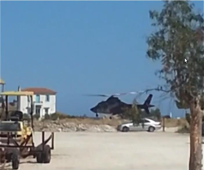 Το μοιραίο ελικόπτερο στο ελικοδρόμιο στον Γαλατά