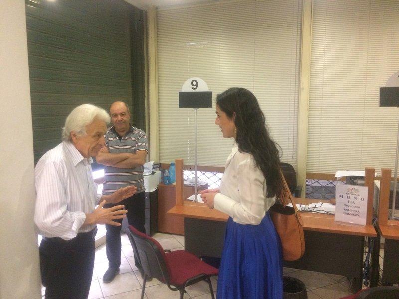 Η Δόμνα Μιχαηλίδου στα γραφεία του ΟΠΕΚΑ