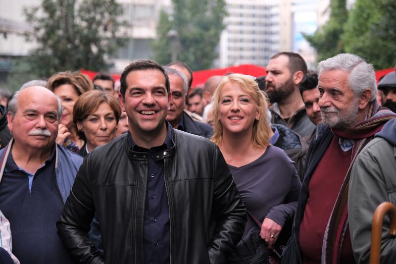 O πρώην πρόεδρος της Βουλής, Νίκος Βούτσης,, η Ρένα Δούρου και ο Θοδωρής Δρίτσας / Φωτογραφία: INTIME NEWS