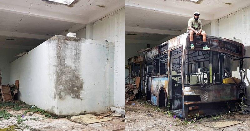 τσιμεντο, λεωφορείο