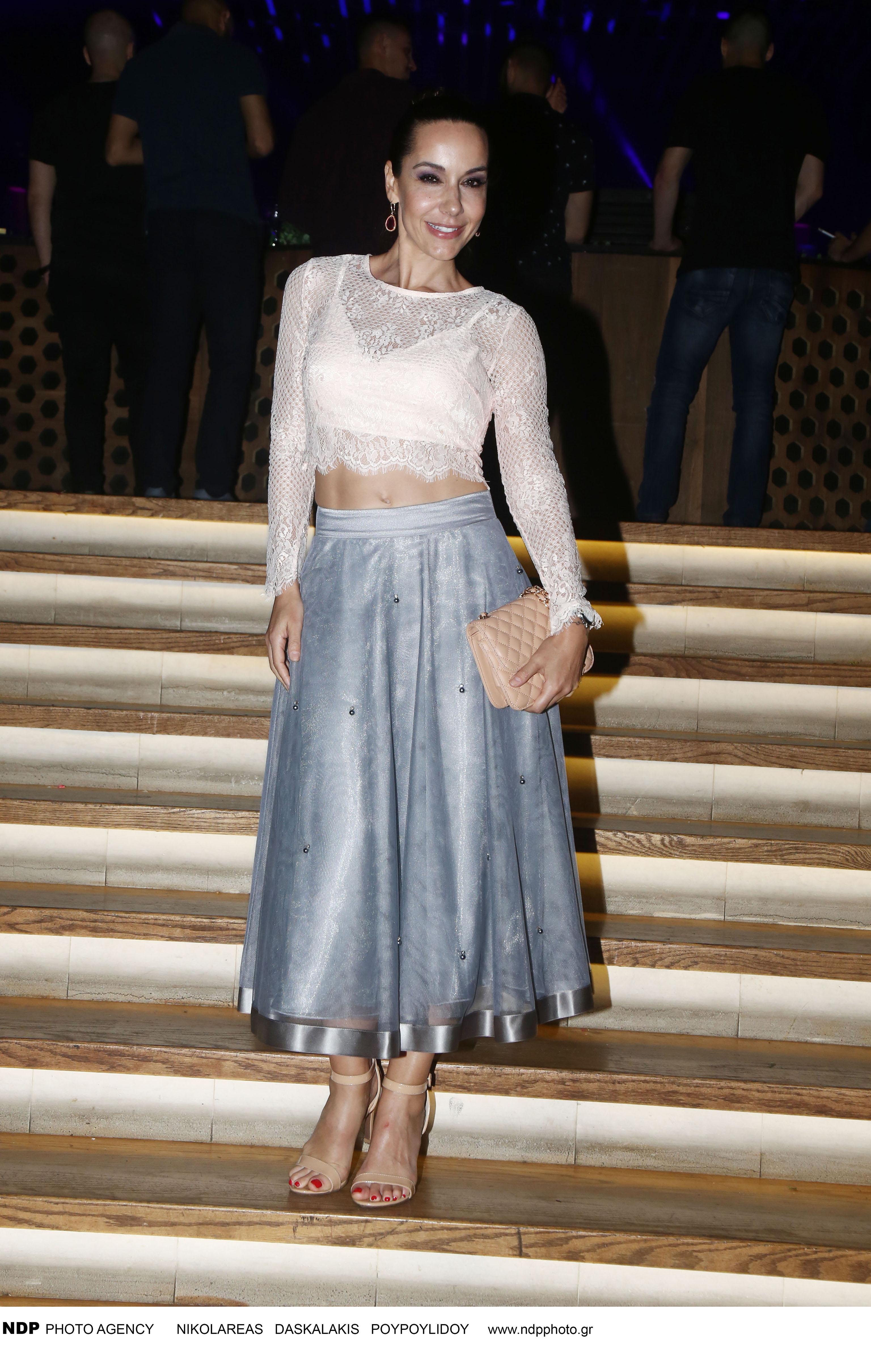 Η Μαρίνα Λαμπροπούλου σε βραδινή έξοδό της