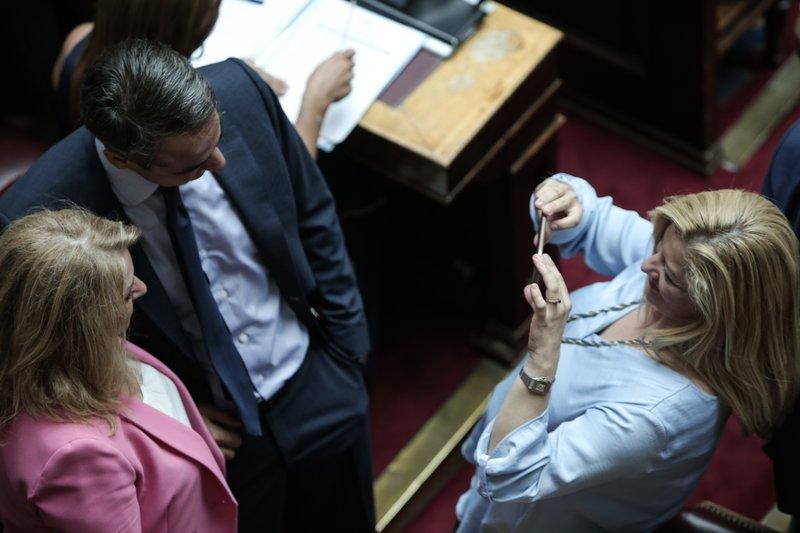 Μητσοτάκη φωτό στη βουλή