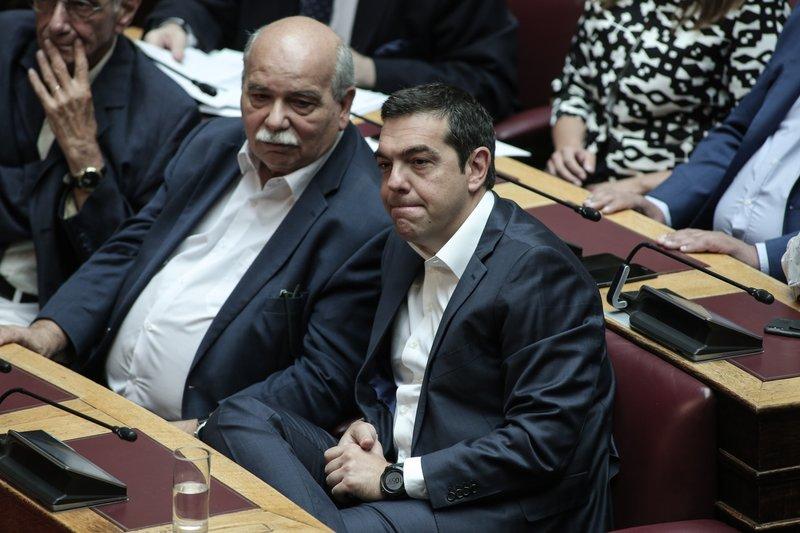Βούτσης Τσίπρας στη Βουλή