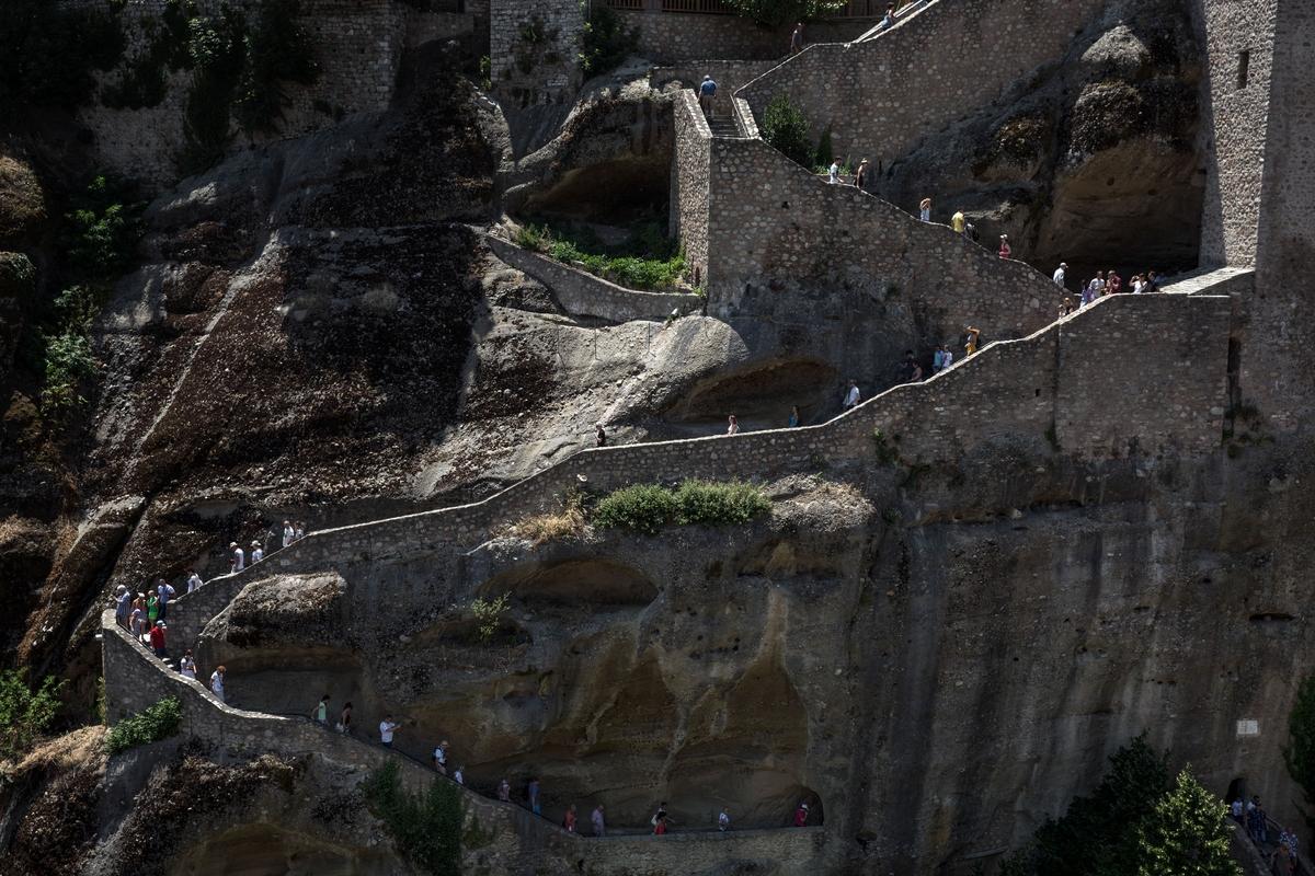 Σκάλες σε μονή των Μετεώρων