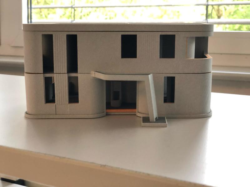μακέτα του σπιτιού που τυπώθηκε με 3D εκτυπωτή