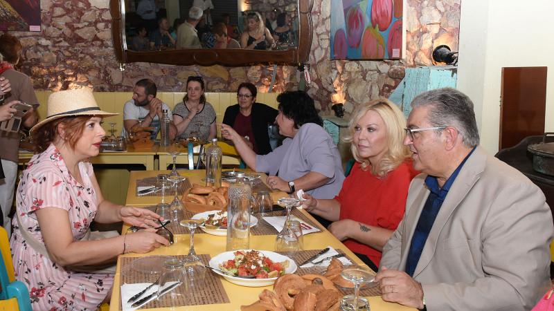 Γεύμα του γενικού γραμματέα του ΚΚΕ με μέλη και φίλους του κόμματος / Φωτογραφία: 902.gr