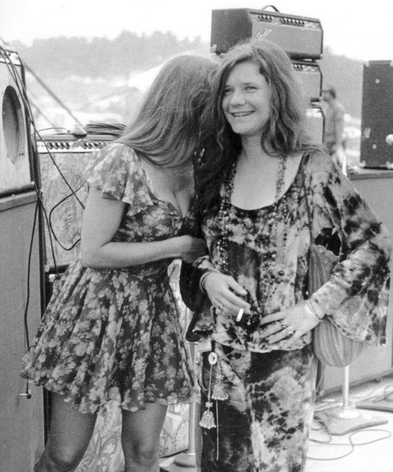 H Janis Joplin με φίλη της στο Φεστιβάλ Γούντστοκ 1969