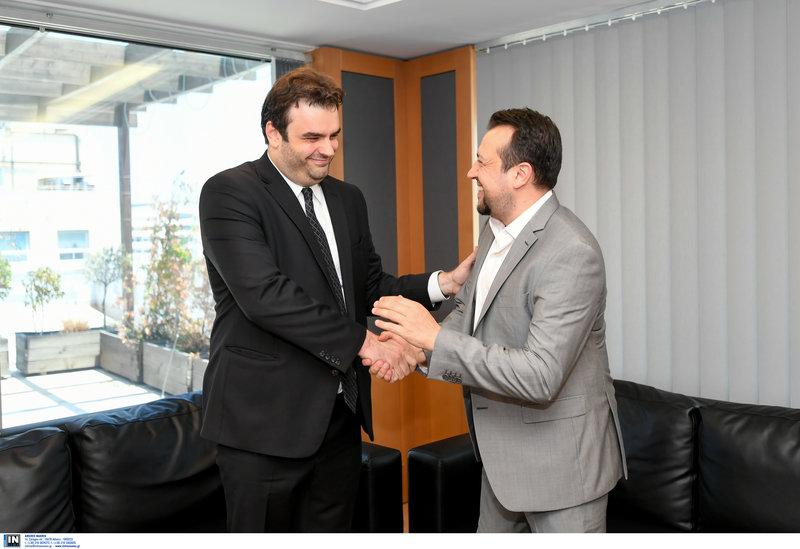 Ο Κυριάκος Πιερρακάκης με τον Νίκο Παππά