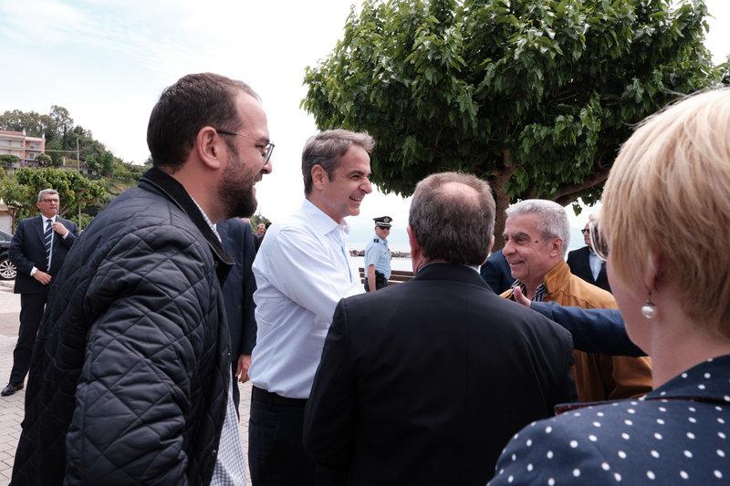 Επίσκεψη του Προέδρου της Νέας Δημοκρατίας Κυριάκου Μητσοτάκη στο Μενίδι Αιτωλοακαρνανίας,