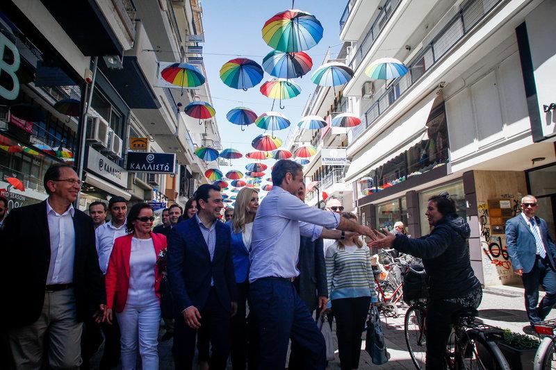 Επίσκεψη του Προέδρου της Νέας Δημοκρατίας Κυριάκου Μητσοτάκη στην πόλη των Τρικάλων