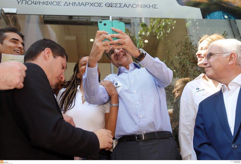 Ο Κυριάκος Μητσοτάκης στη Θεσσαλονίκη