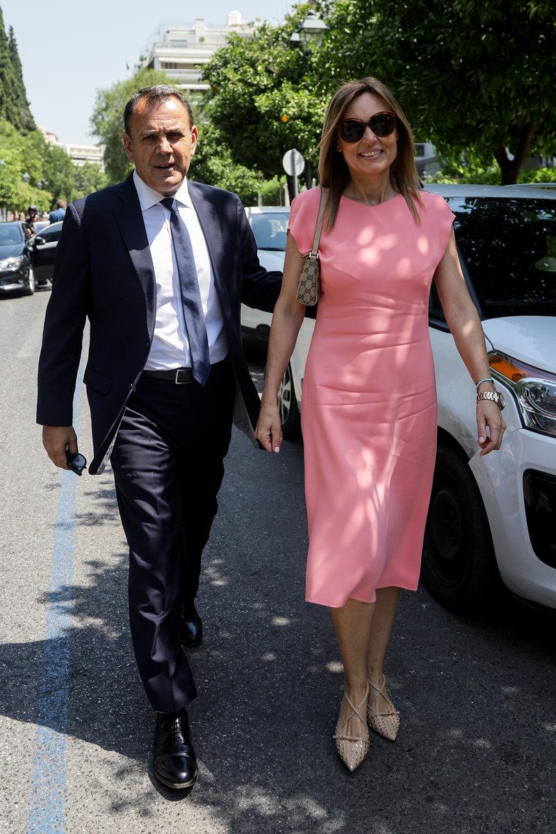 Ο Νίκος Παναγιωτόπουλος με τη σύζυγό του