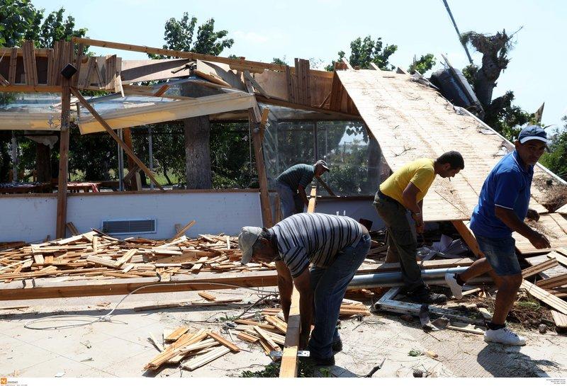 Αποκατάσταση ζημιών στη Χαλκιδική μετά την κακοκαιρία
