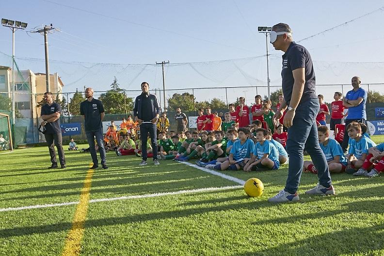 Επίδειξη του παραολυμπιακού αθλήματος ποδοσφαίρου τυφλών