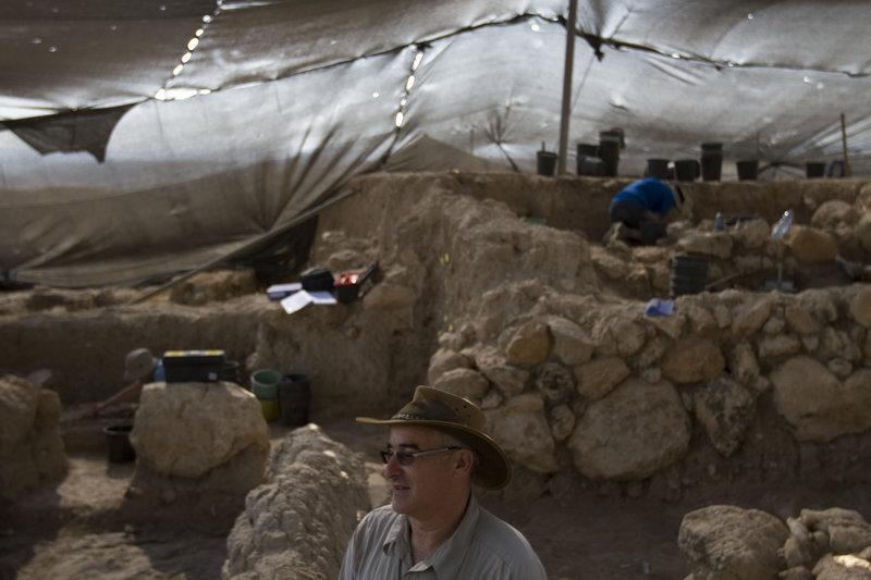 Ο  επικεφαλής των ανασκαφών στον αρχαιολογικό χώρο της Γεθ, Άρεν Μέιρ του   ισραηλινού Πανεπιστημίου Μπαρ Ιλάν.