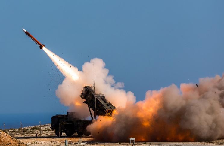 Εκτόξευση πυραύλου Patriot στη διάρκεια νατοϊκής άσκησης στην Κρήτη το 2017.