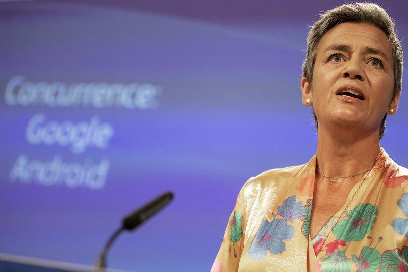 Η επίτροπος Ανταγωνισμού και υποψήφια της Συμμαχίας Φιλελευθέρων και Δημοκρατών για την Ευρώπη, Μαργκρέτε Βεστάγκερ.