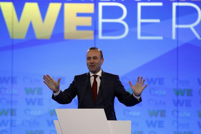 Ο υποψήφιος του ΕΛΚ, Μάνφρεντ Βέμπερ.