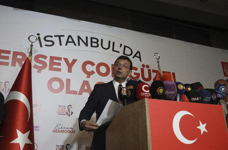 Ο νέος δήμαρχος Κωνσταντινούπολης, Εκρέμ Ιμάμογλου.