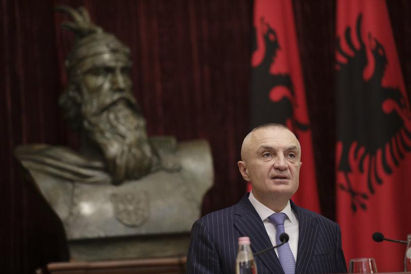 Ο Πρόεδρος της Αλβανίας, Ιλίρ Μέτα.