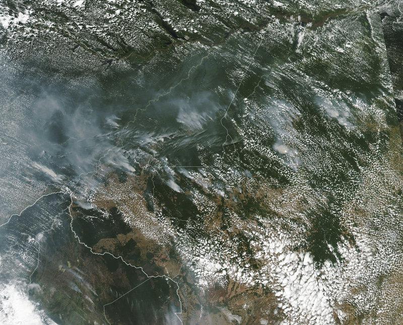 Οι φωτιές που μαίνονται στον Αμαζόνιο είναι ορατές από το διάστημα.