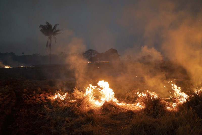 Φλόγες στη φωτιά στον Αμαζόνιο