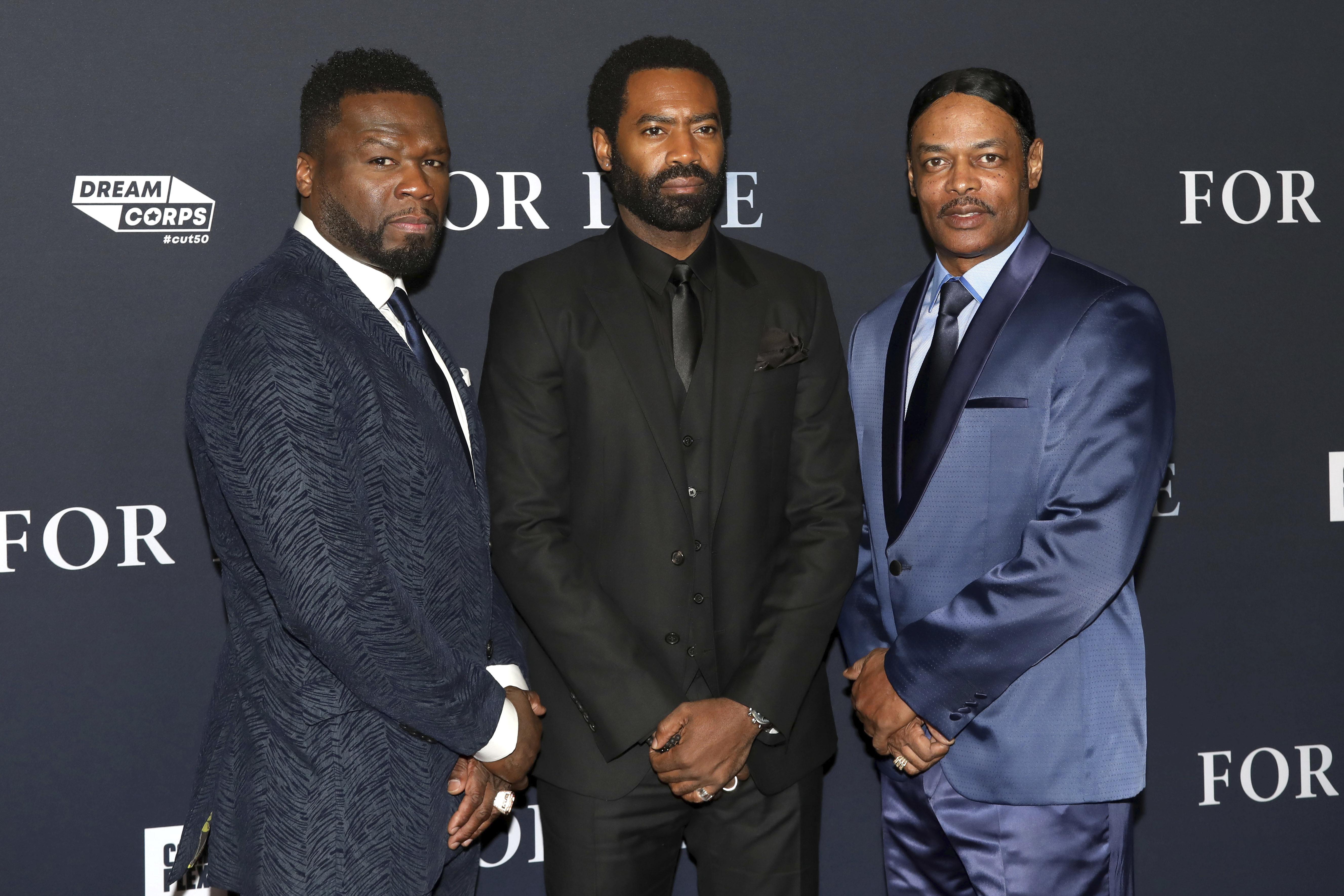O 50 Cent, ο πρωταγωνιστής του For Life, Νίκολας Πίνοκ και ο Άιζαακ Ράιτ