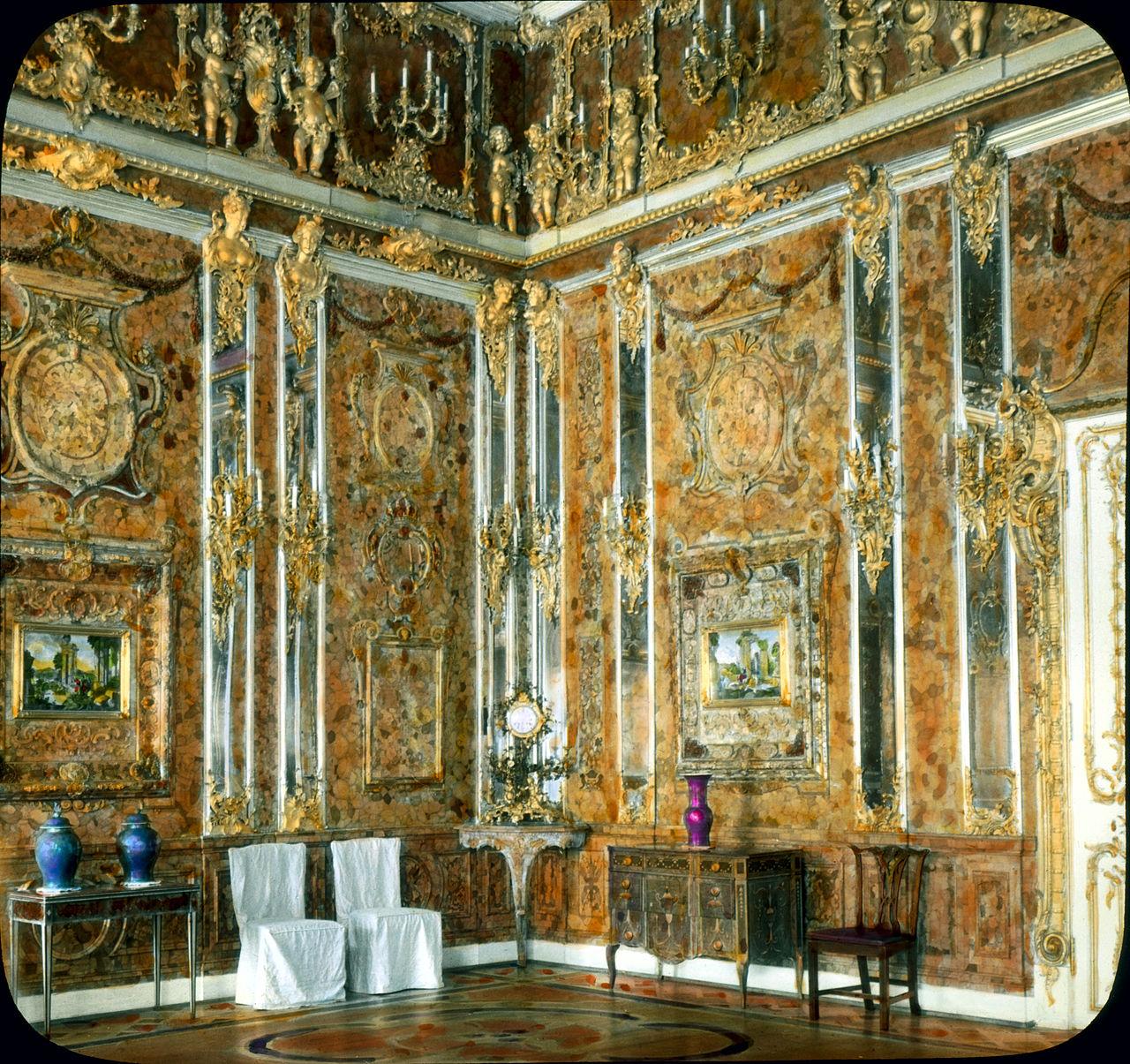 Το αυθεντικό Κεχριμπαρένιο Δωμάτιο όπως ήταν το 1931.