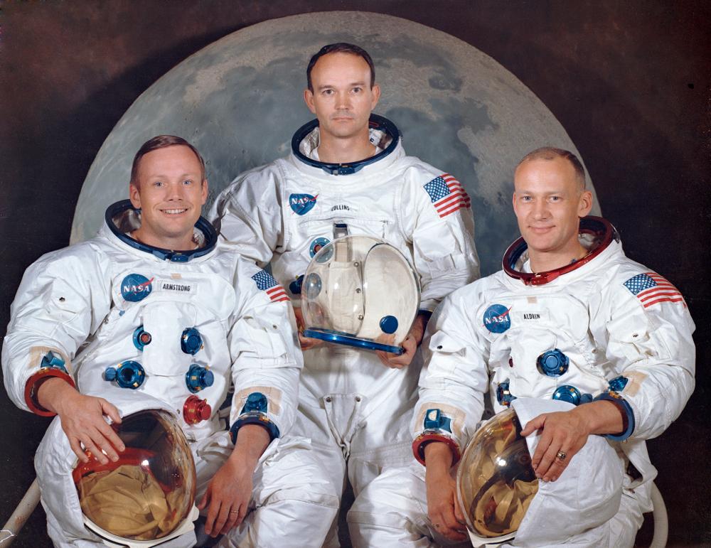 Οι αστροναύτες που συμμετείχαν στην ιστορική αποστολή: Νιλ Άρμστρονγκ, Μάικλ Κόλινς και Μπαζ Όλντριν