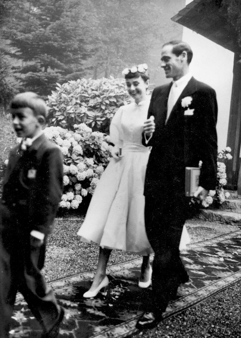 Η Όντρεϊ Χέπμπορν με τον σύζυγό της, Μελ Φέρρερ
