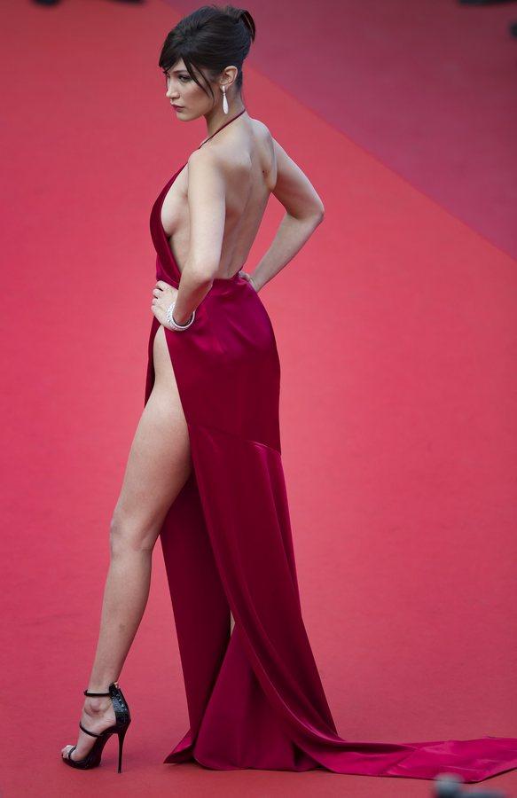 Μπέλλα Χαντίντ κόκκινο χαλί Κάννες 2016