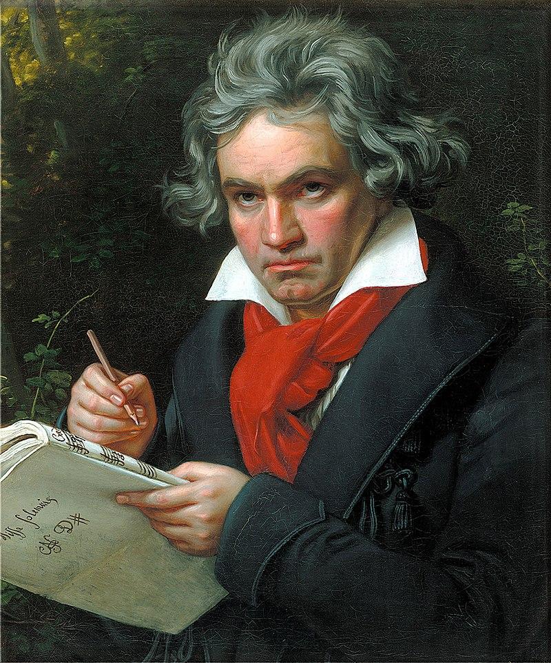 Ποτρέτο του Λούντβιχ Βαν Μπετόβεν φιλοτεχνημένο από τον  Joseph Karl Stieler το 1820.
